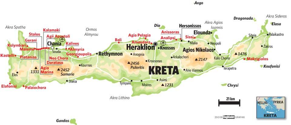 kreta kart norsk Royal Travel   Kreta kreta kart norsk